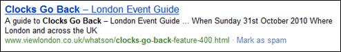 Bing Search: clocks go back
