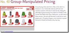 Group-manipulated pricing