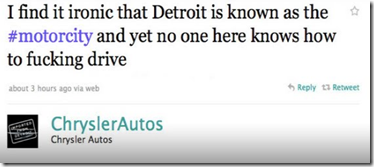 Chrysler Autos offensive tweet
