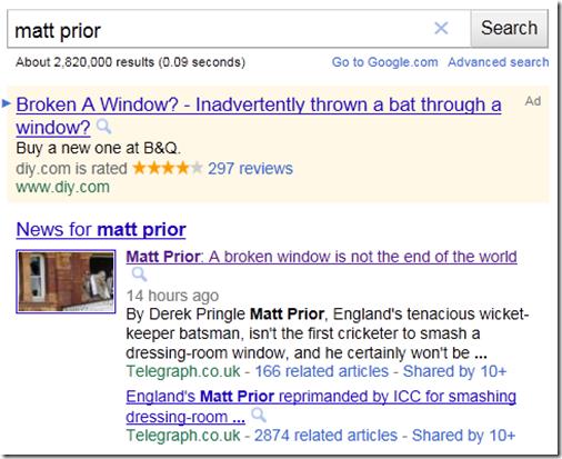 Search results for Matt Prior