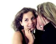 Women whispering
