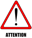 Attention warning sign