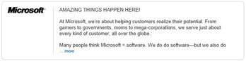 Microsoft Company Page on LinkedIn