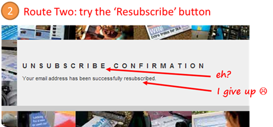 Archant Route Two Unsubscribe page