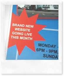 Website going live this month flash in press ad