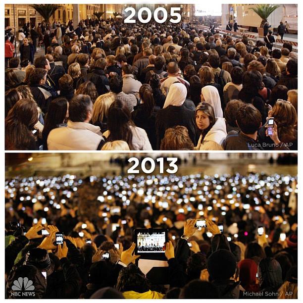 Papal Crowds