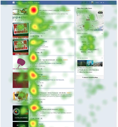 Eye tracking heatmap Facebook Graph Search