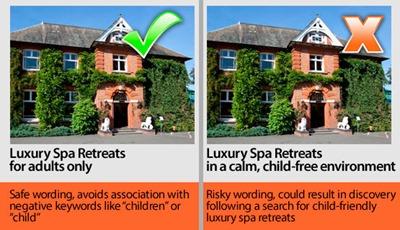 Spa Retreats Negative Keyword Example