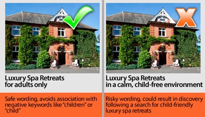 Spa Retreats Negative Keyword Example