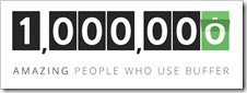 One million Buffer users